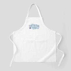 """Quilting Diva"" [blue] BBQ Apron"